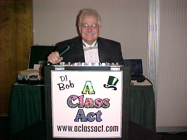 DJ Bob of A Class Act - serving NJ since 1979 - wedding dj and party dj